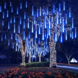 144 LED Solar Meteor Shower String Lights Tree Lamp 100 LED String Light Xmas $19.95