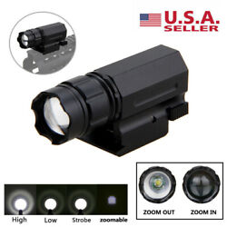 3000LM LED Zoomable Flashlight Gun Torch Lamp Light 3 Mode 20mm Picatinny Mount $13.99