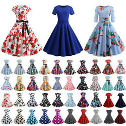 Women#x27;s Retro 50s 60s Vintage Rockabilly Pinup Swing Evening Party Dress $15.57