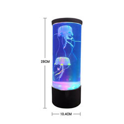 LED Night Light Fantasy Bedside USB Charging Hypnotic Jellyfish Color Changing $26.98