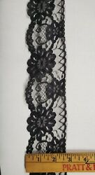 Black Scallop 2 5 8quot; Wide Lace for Lingerie or Crafts 20 yards = $12.99 $5.99