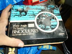 Vintage Sears Wide Angle Binoculars 7x35mm Model No. 3 2511 with Case And Box $44.95