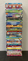 Lot Of 40 Kids DVD's Disney Nickelodeon Included Used Lot $25.99