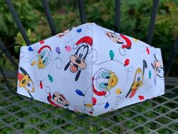 NEW Face Mask Women Teen size Christmas Mickey Mouse Disney Goofy Pluto $10.00