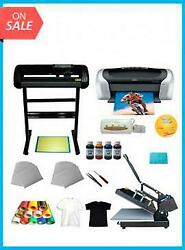 UP KIT HEAT PRESSCUTTER PLOTTER PRINTERINK PAPER T SHIRT TRANSFER START $1699.99