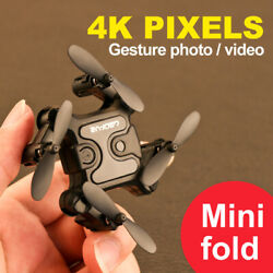 mini Drone Selfie WIFI FPV Dual HD 4K Camera Foldable Arm RC Quadcopter Toy US $36.65