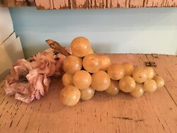 Lovely Antique Vintage Marble Alabaster Stone Grapes Italian #11 $54.00