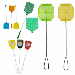 2 Wire Mesh Fly Swatter Plastic Bug Mosquito Insect Flying Wasp Killer Catcher $6.98
