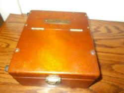 NICE OLD EMPTY US NAVY INSTRUMENT WOODEN BOX CASE $34.00