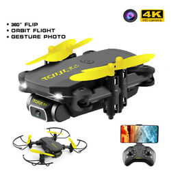 Mini drone with 4k Professional WIFI Drone Quadcopter FPV RC Foldable Drones New $20.40