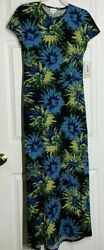 LuluRoe Maxi Long Maria Dress Size XXS Floral in bright colors NWT $12.99