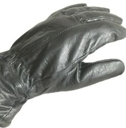 Mens Black Leather Driving Gloves Size Medium Thinsulate Lined Winter 40 gram $24.99