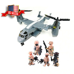 V 22 Osprey Helicopter Custom Army Military Minifigures Building Block Toys $35.00