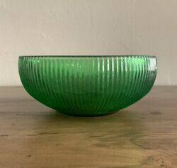 EXC Vintage Emerald Green Ribbed Glass 6quot; Bowl E. O. Brody Co 1960#x27;s Mid Century $10.00