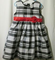 Blueberi Boulevard Girls Party Formal Dress Size 5 Black White Easter 2 234A $14.99