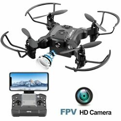 Mini Drone 2.4G 720P Mini Drone with FPV Camera Foldable Altitude Hold Gift $43.90
