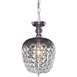 CRYSTAL CHANDELIER PURPLE BEDROOM HALLWAY DINING LIVING ROOM 1 LIGHT CHANDELIERS $145.00