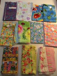 LOT of 10 Different Novelty Kids Sewing Fabric Pieces ClothesMasksCraft 7.9 yd $19.98