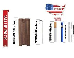 Wooden Dugout Box with Metal Bat and Poker 2 Free One Hitter Bat Pipe Chillum $12.25