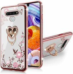 LG Stylo 6 CaseGlitter Crystal Butterfly Heart Floral Series Cute for Girls Wom $22.98