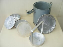 Age GDR Thermal Lunch Pail Field Kitchen Bucket Goulash Pot $39.09