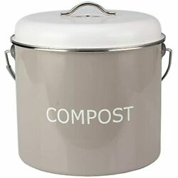 COMPOST BIN COUNTERTOP 0.8 Gallon 3 Liter Compost Bucket For Kitchen With Lid 4 $28.01