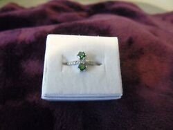 New w tag amp; bag Ring Bomb Party Size 10 GREEN RAINBOW TOPAZ .925 SILVER RBP2206 $30.00
