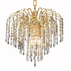 MADE WITH SWAROVSKI CHANDELIER ASFOUR CRYSTAL BEDROOM DINING ROOM 4 LIGHT 14quot; $766.00