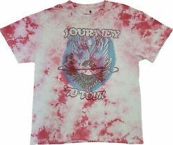Men#x27;s Journey Rock Band 1979 Tour Tie Dye Red Retro Vintage T Shirt New Tee $16.49