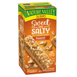 Nature Valley Sweet and Salty Nut Granola Bars Peanut Snack Bars 36 ct. $14.97