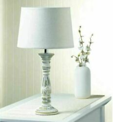 ANTIQUE FINISHED TABLE LAMP Light Farmhouse Country Rustic Distressed Worn $42.95