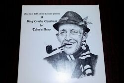 Bing Crosby Christmas for Today#x27;s Army Xmas LP $10.00