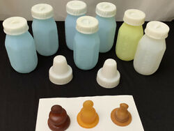 Vintage Evenflo Plastic Bottles 4oz Lot Of Seven Bottles $74.25