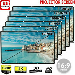 Portable Foldable Projector Screen 16:9 HD Outdoor Home Cinema Theater 3D Movie $9.98