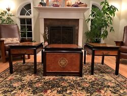 VINTAGE CENTURY FURNITURE CO CHIN HUA ASIAN STYLE CABINET amp; END TABLES $749.00