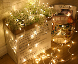 20 30 40 LED String Fairy Light Lamp Battery Operated Party Xmas Garden Decors
