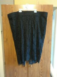 Torrid Lace Pencil Skirt Slimming Black Shorts Underneath SEXY Size 24 NWT $38.00