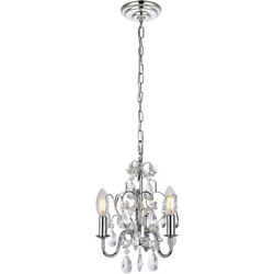 CRYSTAL CHANDELIER SHABBY AND CHIC PENDANT KITCHEN ISLAND LIGHTING 3 LIGHT 12quot; $119.00