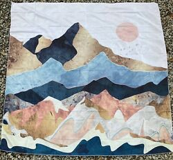 Mountain Tapestry Forest Sunset Tapestry Nature Landscape Wall Hanging for Room $11.11