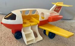 Fisher Price Little People Orange amp; Yellow Airplane Vintage 1980 $8.99