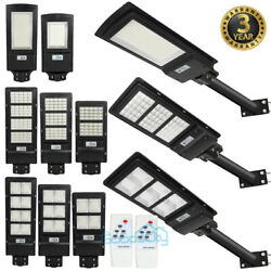 18000LM Commercial LED Solar Street Light Motion Sensor Remote Mounting Pole