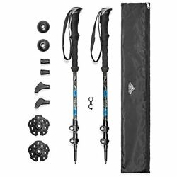 Cascade Mountain Tech Trekking Poles Carbon Fiber Strong Adjustable Hiking or $61.47