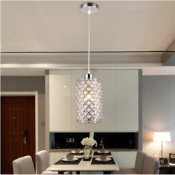 Modern chrome LED crystal chandelier lighting Pendant Ceiling Lights $22.99