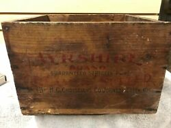 Antique Wooden Butter Box Ayrshire Brand $75.00
