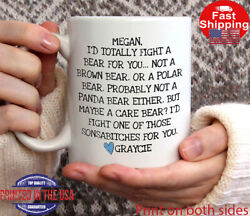 Best Friend Coffee Mug Funny best friend gifts I#x27;d Totally Fight a Bear for Y... $13.95