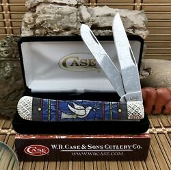 Case XX USA Beautiful Custom 2020 Stained Glass DOVE Engraved Trapper Knife #5 $195.00