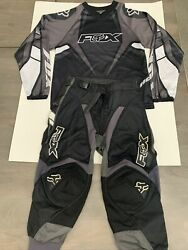 Youth Fox Motocross Racing Pants Size 6 22 and Kids Fox Jersey Clean Preowned $25.00