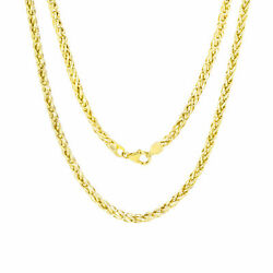 10K Yellow Gold Wheat Round Franco Link Chain 3.5mm Necklace 20 Inches $219.99