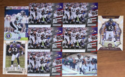 9 RAY LEWIS MIXED FOOTBALL CARD LOT WITH RC AND INSERTS $5.00