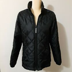 Pacific Trail black lightweight quilted jacket M polyester nylon blend $19.20